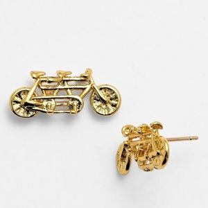 NWT Kate Spade In Tandem Gold Bicycle Earrings